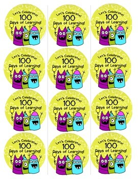 100th Day Monster Buttons!