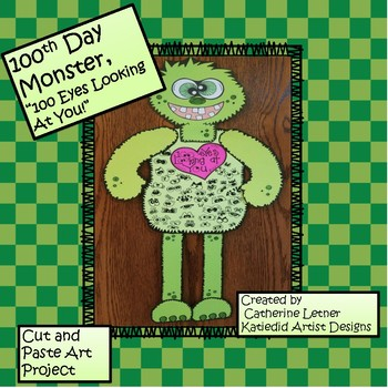 """100th Day Monster Craft Project """"100 Eyes Looking At You!"""""""