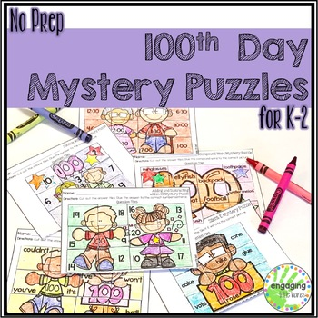 100th Day Mystery Puzzles for K-2