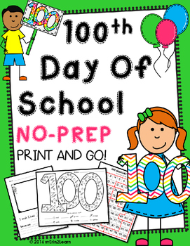 100th Day of School No Prep