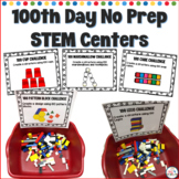 100th Day No Prep STEM Centers