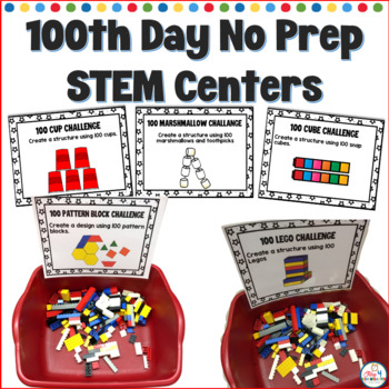 100th Day No Prep STEM Centers
