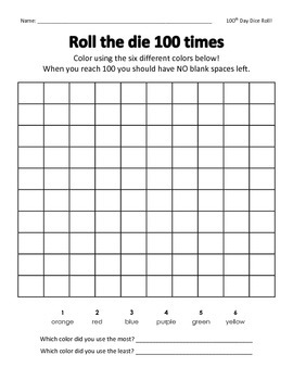 100th Day / Number Sense 1-100