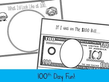 100th Day Of School Activities {Freebie}