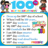 100th Day Of School | Activities | Virtual | In-person  - 14 Google Slides