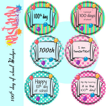 100th Day Of School Activities - Badges