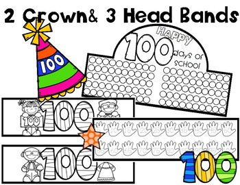 100th day of school crown by bilingual printable resources for 100th day of school crown template
