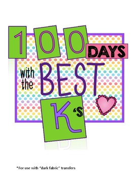 100th Day Of School Kindergarten T-Shirt printable