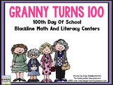 100th Day Of School Math And Literacy Centers