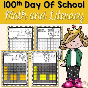 100th Day Of School Math & Literacy Fun