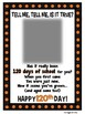 100th Day Of School Picture Poem
