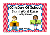 100th Day Of School Sight Word Race