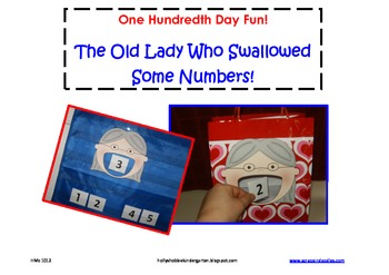 100th Day ~ Old Lady Who Swallowed Some Numbers! (Counting, Numbers 1-100)