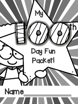 100th Day Packet! NO PREP!