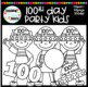 100th Day Party Kids Clipart