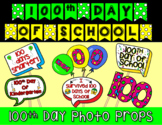 100th Day Photo Booth Props, Banner, and Hat