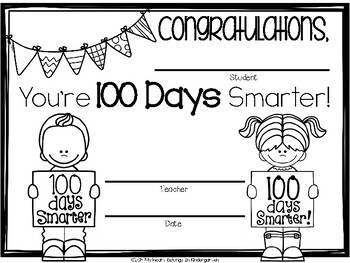 photo relating to 100 Days Printable named 100th Working day of College FREEBIE