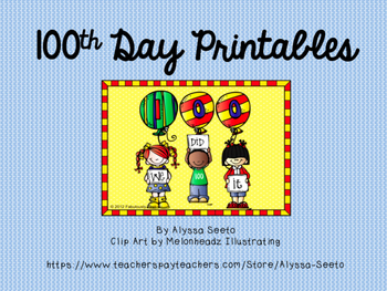 100th Day Printables