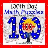 100th Day of School Math Puzzles - 4th Grade Common Core