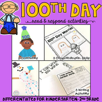 100th Day: Reading Comprehension, Writing and Craftivities