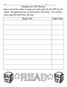 100th Day Reading