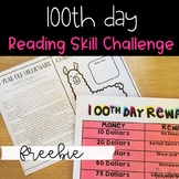 100th Day Reading Skill Challenge