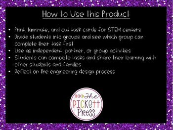 100th Day STEM Activities: Editable Task Cards