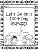 100th Day of School Safari! Read, color, cut and paste activity book! PreK-1