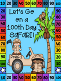 100th Day of School Safari! Read, color, cut and paste act