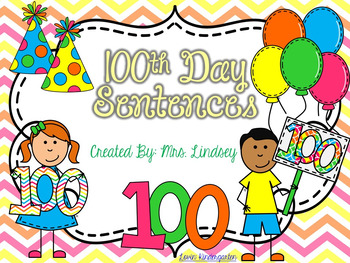 100th Day Sentences  {Pocket Chart Stations}