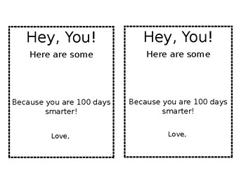 100th Day Smartie Printable