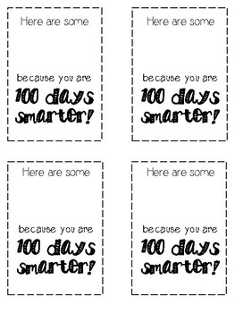 graphic about 100 Days Smarter Printable called 100th Working day Smarties Worksheets Education Products TpT