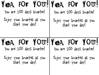 100th Day Smarties