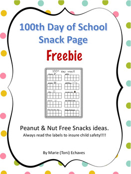 100th Day Snack Freebie