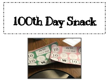 100th Day Snack Mat