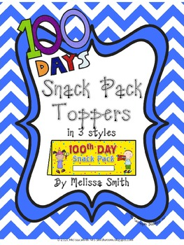 100th Day Snack Pack Set