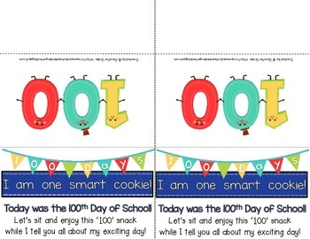 100th Day Snack Tag *FREEBIE*