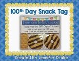 100th Day Snack Tag *FREEBIE*