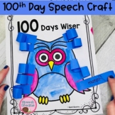 100th Day Speech Therapy Crafts