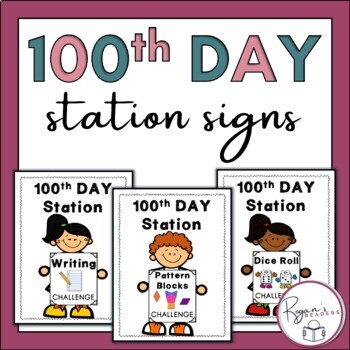 100th Day Station Signs