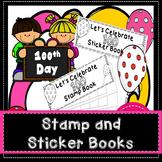 100th Day Sticker Stamp Book 100 Days