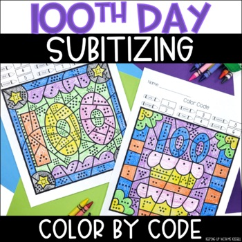 100th Day of School Subitizing Color By Number