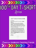 100th Day T-Shirt Letter (editable)