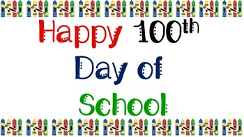 100th Day T-Shirt Transfer Image