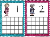 100th Day Granny Ten Frame Cards Freebie!