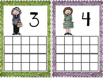 100th Day Granny Ten Frame Cards Freebie!