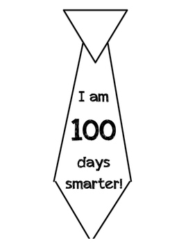 100th Day Tie