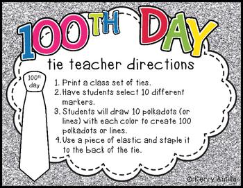 100th Day Ties *FREEBIE*
