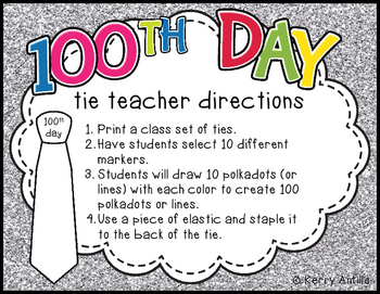 100th Day Ties *FREEBIE*