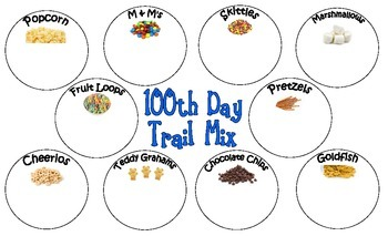 100th Day Trail Mix Sorting By Jennifer Samartino Tpt